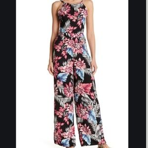 BEBOP Halter Floral Jumpsuit Size Small